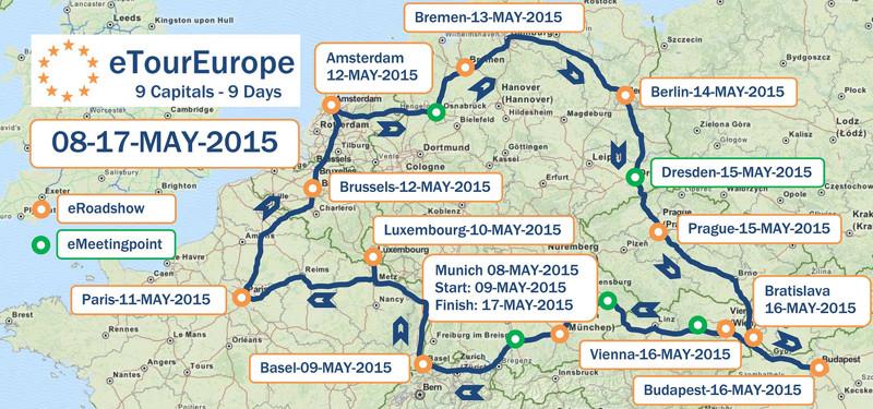 E-Tour Europe ist zu besuch