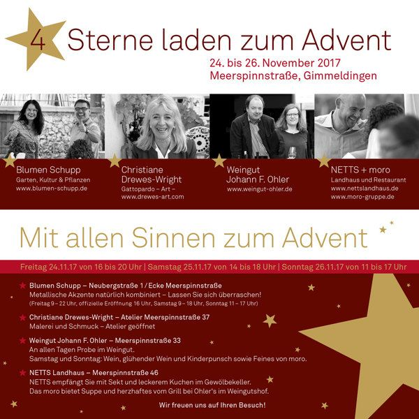 4 Sterne laden zum Advent