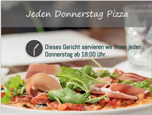 Jeden Donnerstag Pizza