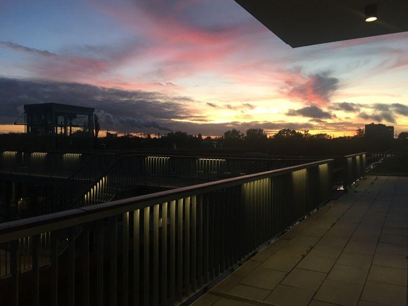Ein Blick über die Dächer Hamburgs