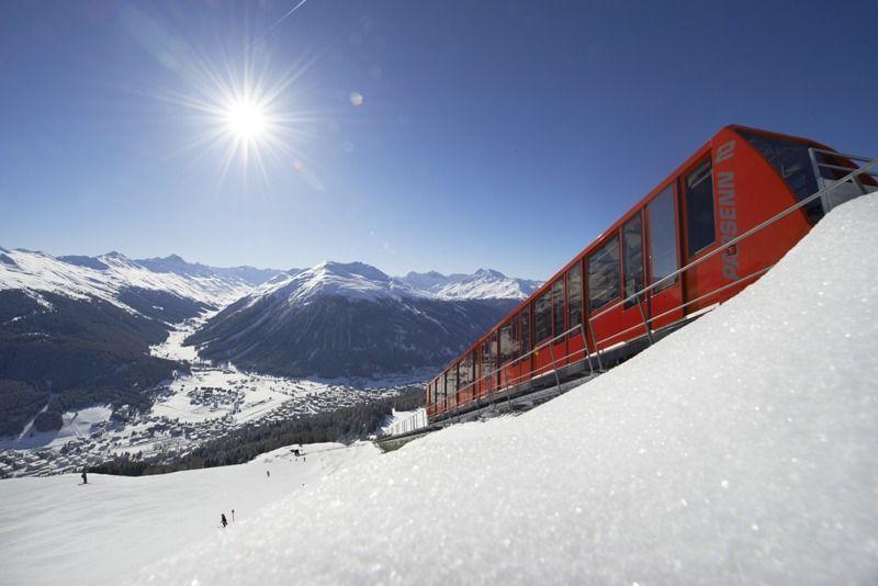 Parsennbahn_Blickrichtung Davos_Winter_02