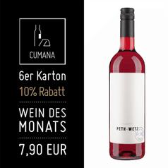 2015 Rosé Klarett Peth-Wetz (7,90€ pro 0,75l Fl.)