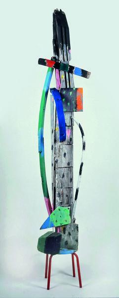 Columbine, 2012,verschiedene Materialien bemalt, 225x50x35cm