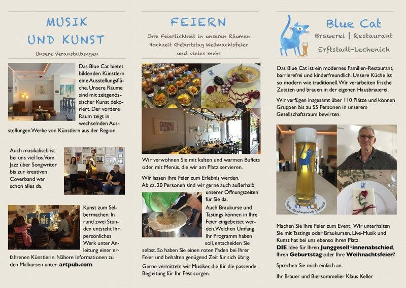 Flyer Blue Cat Herbst 2019