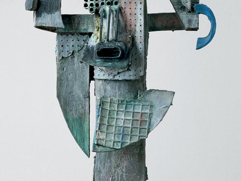 Luftiger Kopf, 2010, Bronze patiniert, 90x50x25cm