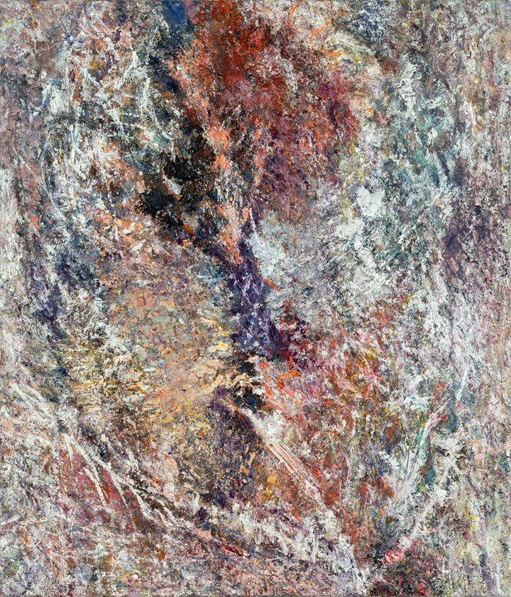 Roland HELMUS  Caput I, 2017, Öl auf Leinwand, 140 x 120 cm