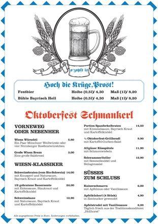 Oktoberfest-Wochen im