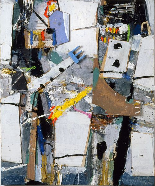 Weißes Paar, 2008, Materialbild, 120x100x5cm